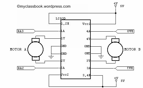 L293d Dc Motor Driver Ic on dc capacitor