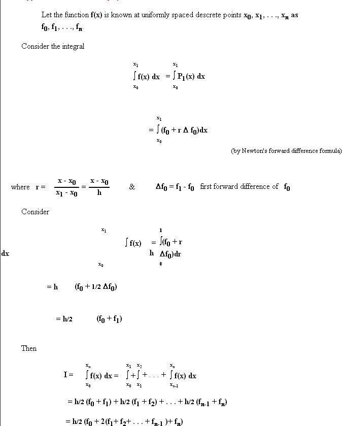 Trapezoidal Rule Derivation