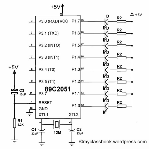 LED chasing circuit diagram