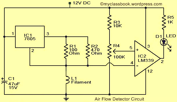 Air Flow Detector Circuit Electronics Project - MyClassBook