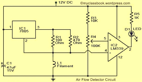 air flow detector circuit electronics project myclassbook