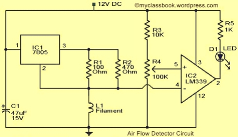 Air Flow Detector Circuit Diagram