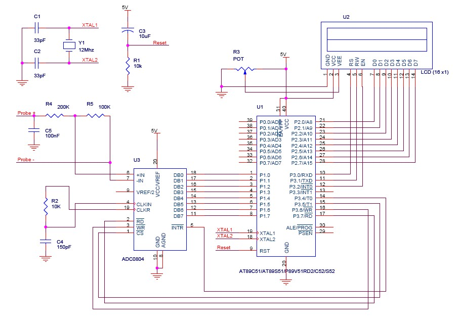 digital voltmeter using 8051 microcontroller electronics projects rh myclassbook org voltmeter using 8051 c code digital voltmeter using 8051 microcontroller project report