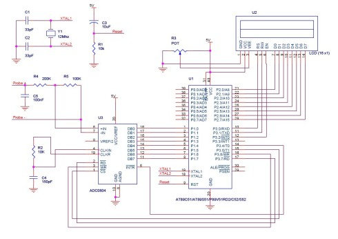 Digital voltmeter using 8051 micrcontroller