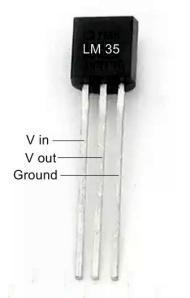 LM 35 Pin diagram