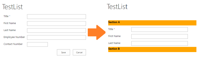 Customize SharePoint List
