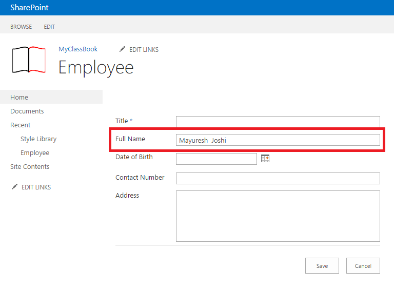 Get Current user name in SharePoint