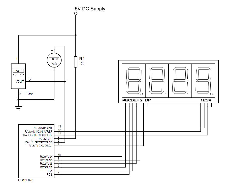 Temperature Indicator Using Microcontroller