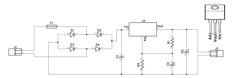 10V DC Power Supply