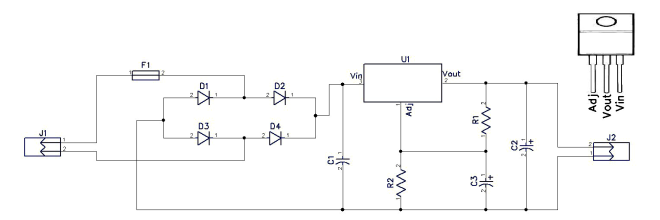 10V DC Power Supply
