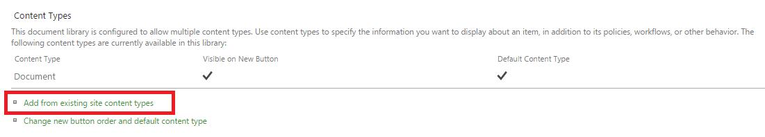 Add Document Set Content Type