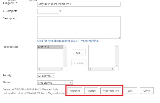 Customize Workflow Task List