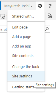 SharePoint Site Settings