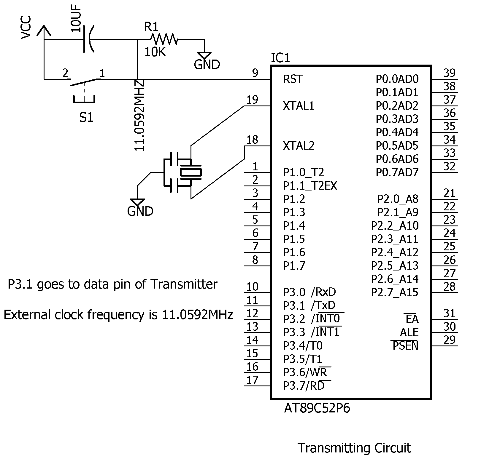 interfacing 433mhz rf modules with 8051 microcontroller