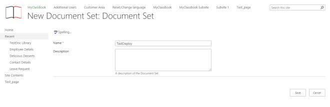 Document Set Name
