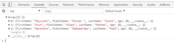 JSON Object output