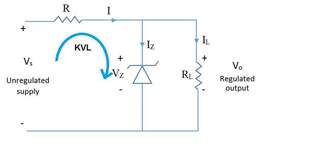 Regulator using zener diode only