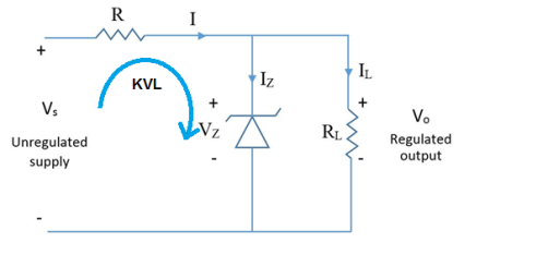 Regulator using zener diode only