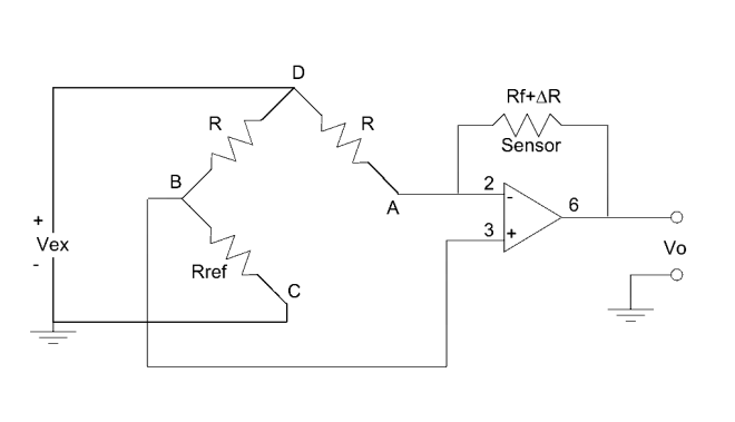 Bridge amplifier for thermistor