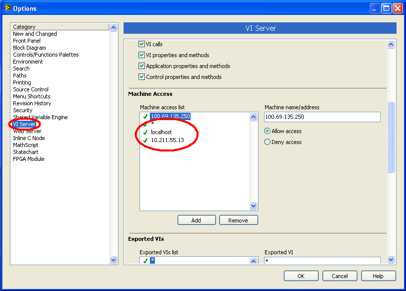 Configuring VI Servers in LabVIEW 006