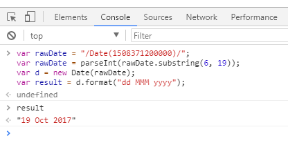 Convert SharePoint date to Readable date