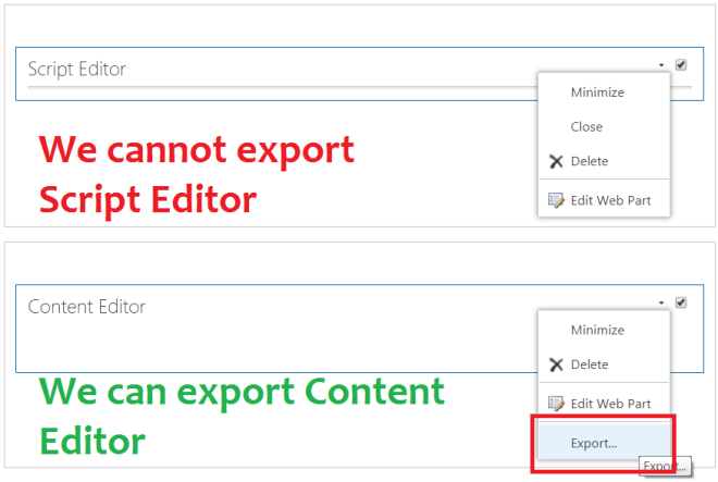 Difference between Content editor and Script editor webpart in SharePoint