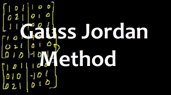 Gauss Jordan Method